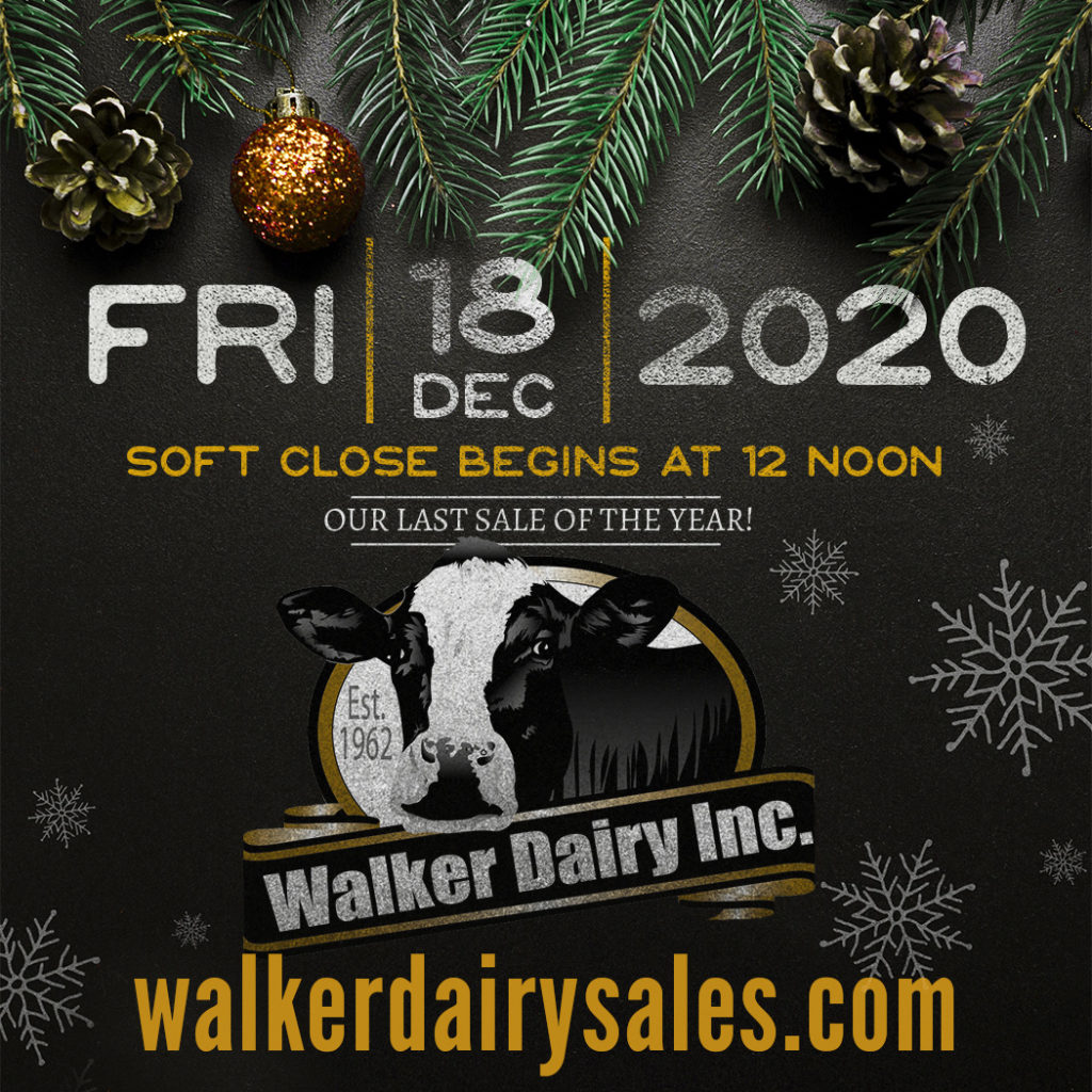 Walker Dairy Sale Dec 18, 2020 sale